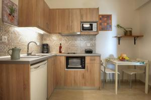 Een keuken of kitchenette bij Captain's Apts Barbati