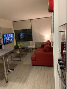 Una televisión o centro de entretenimiento en San Martin Downtown
