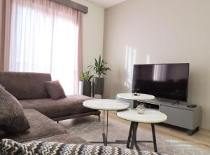 A seating area at Tirana LUX Apartments