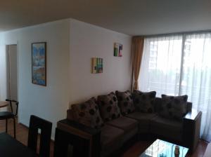 Zona de estar de Apartamento Full Equipado Santiago Centro