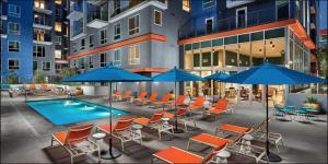The swimming pool at or near Movie Stars Premium | 1 Bedroom Downtown