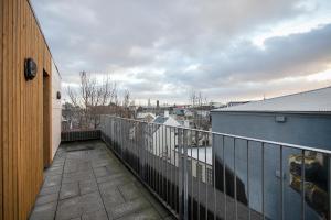 Een balkon of terras bij Planet Apartments
