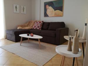 Ein Sitzbereich in der Unterkunft Art Apartment