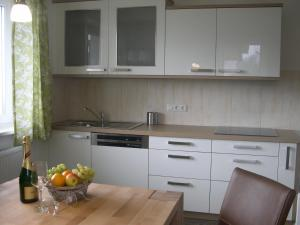 Køkken eller tekøkken på Ferienwohnung Fritz