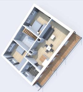The floor plan of Ferienwohnung Hochgrat