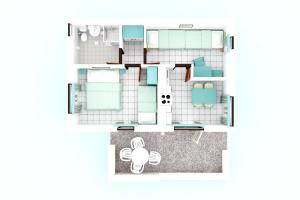 The floor plan of Apartments Astra Plava Laguna