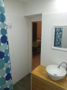 A bathroom at Amir's Apartments