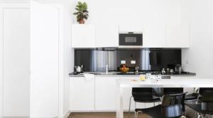Cuisine ou kitchenette dans l'établissement App Leoncino Design Apartment in Rome