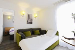 Coin salon dans l'établissement Aparthotel Adagio Access Marseille Prado Périer