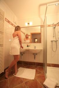 Koupelna v ubytování Gästehaus Bergwelt