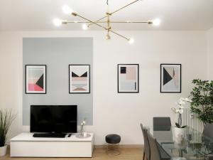 A television and/or entertainment center at ALTIDO Austere Elegance