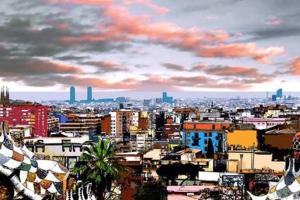 Vista general de Barcelona o vista desde el apartamento