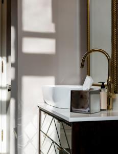 A bathroom at Moja apartments