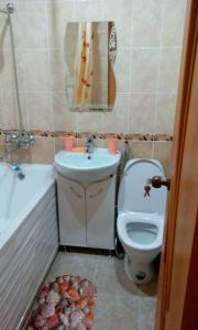 A bathroom at Любимый Кисловодск