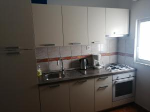 A kitchen or kitchenette at Apartmani Island