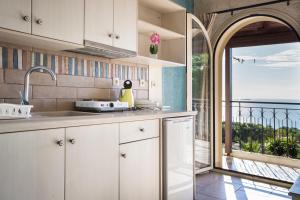 A kitchen or kitchenette at Irilena Studios and Apartments