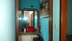A bathroom at chácara Casagrande