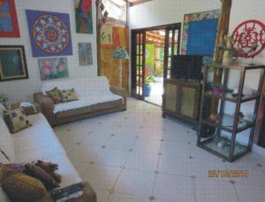 The lobby or reception area at Casa do Joca - Ilhabela