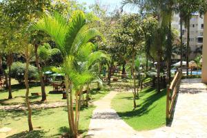 A garden outside Apto 129 para 6 pessoas Thermas Paradise