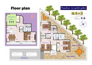 The floor plan of Ryukyu no yado Yaka