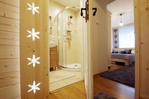 A bathroom at Apartament Regionalny Centrum