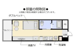 The floor plan of Mr. Kinjo in Tsubogawa
