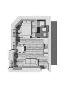The floor plan of elPilar Friedrichshain