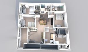 The floor plan of Porto Residence