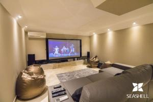 A television and/or entertainment center at Villa Hera