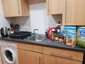 A kitchen or kitchenette at Brabloch park (near glasgow airport)