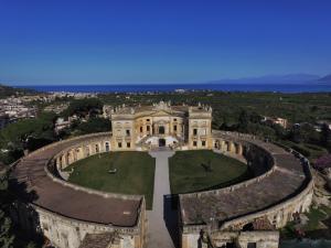 A bird's-eye view of Villa Valguarnera