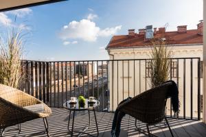 A balcony or terrace at Rajska 3 by Atrium Apartments
