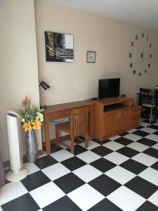 A television and/or entertainment center at VIEW TALAY 5c STUDIO, 8 ème étage