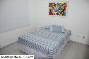 Cama o camas de una habitación en Apartamentos no Campeche