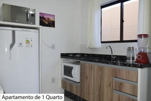 Una cocina o zona de cocina en Apartamentos no Campeche