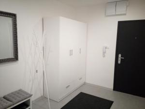 Televízia a/alebo spoločenská miestnosť v ubytovaní Dvojizbový byt, Levice