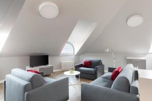 Svetainės erdvė apgyvendinimo įstaigoje Somnia Apartments