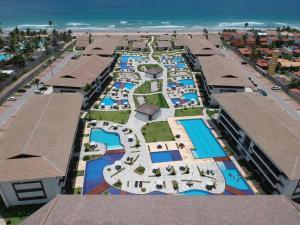 Uma vista aérea de Flat Cupe Beach Living
