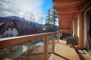 Balkón nebo terasa v ubytování OLI Apartments-Bertolli