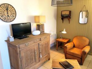 Télévision ou salle de divertissement dans l'établissement Gîtes du Domaine du Grenier