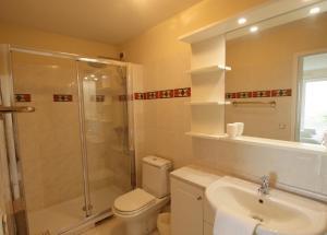A bathroom at Le Carras