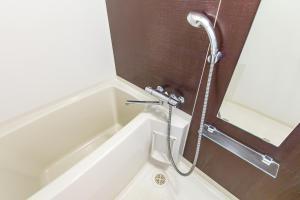 A bathroom at Mr. Kinjo in Makishi