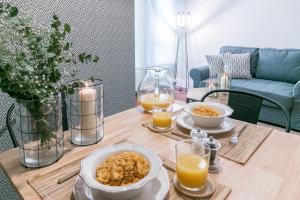 Opciones de desayuno disponibles en Livemalaga Boutique Apartments