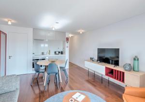 BO - Rua das Aldas *Historic Apartments廚房或簡易廚房