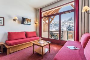 Zona d'estar a Résidence Pierre & Vacances Les Terrasses d'Azur