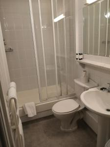 A bathroom at The Harbour Mill Apartments