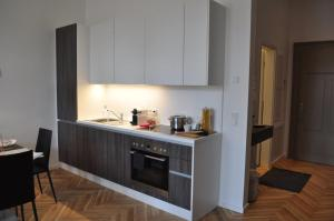 A kitchen or kitchenette at SRS Apartments München