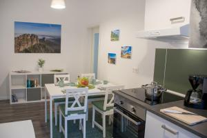 A kitchen or kitchenette at Apartmenthaus Luise