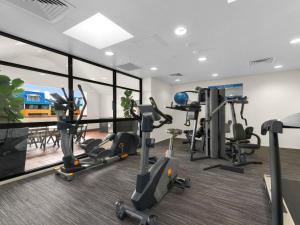 The fitness center and/or fitness facilities at Central Brunswick Apartment Hotel