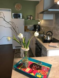 Küche/Küchenzeile in der Unterkunft Ferienwohnung Laurent